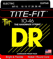 DR Tite Fit Nickel Plated Round Core Electric Guitar Strings