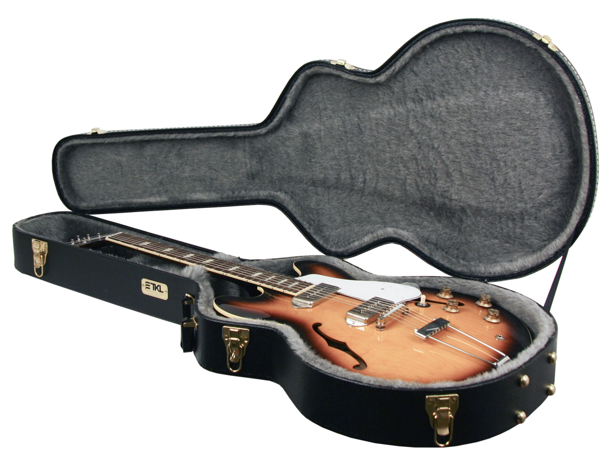 TKL7855   Hollowbody 335 style Hardshell Flat top case