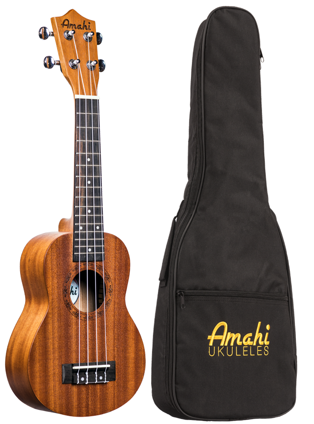 Amahi UK210S Soprano uke w/ padded bag