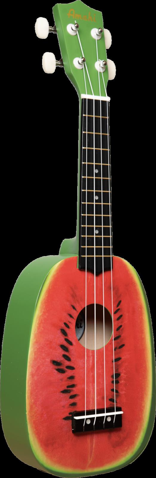 Amahi DDUK16 Watermelon Soprano Ukulele w/ Cloth Bag