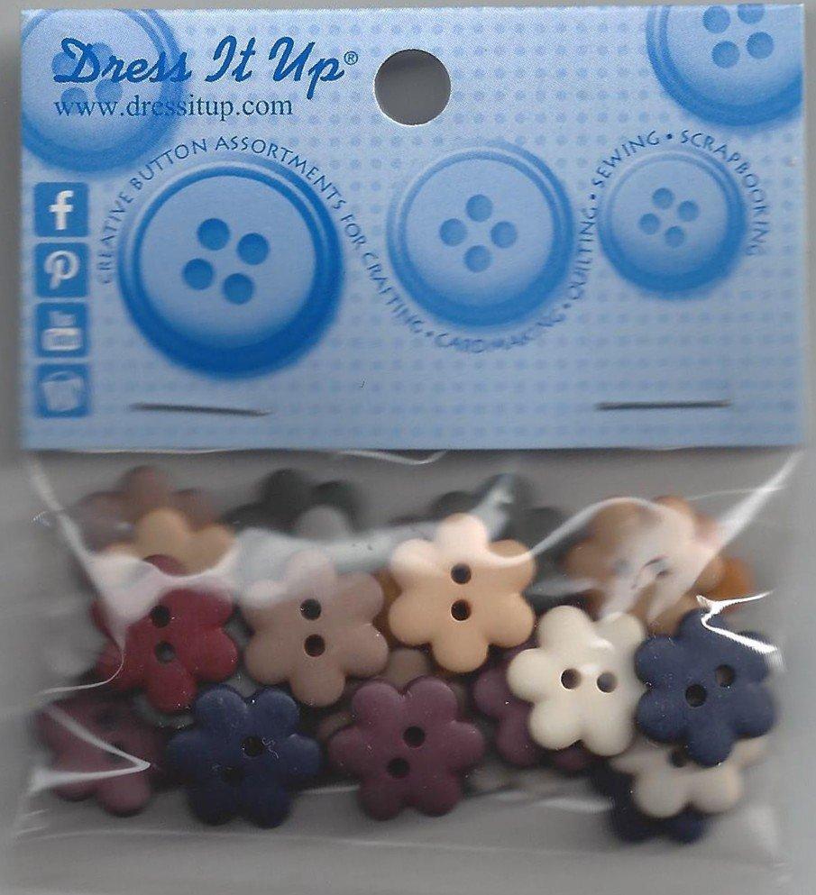 Dress it Up Flower Buttons  25ct