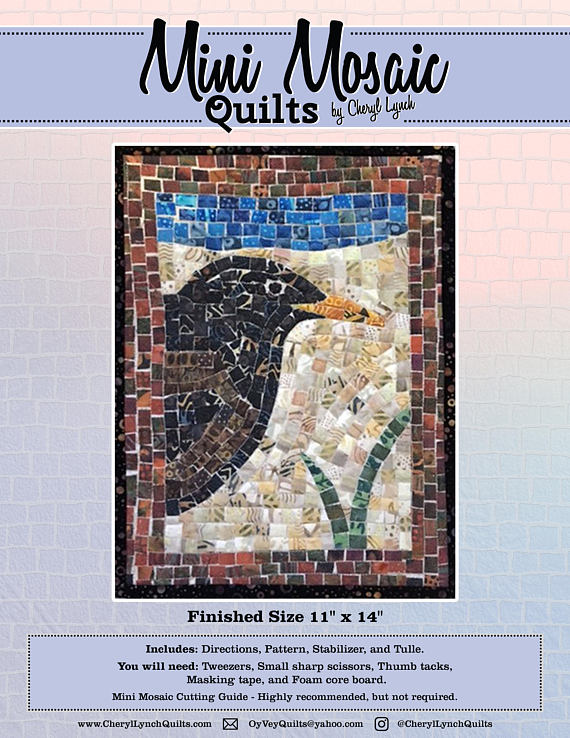 Mini Mosaic Raven