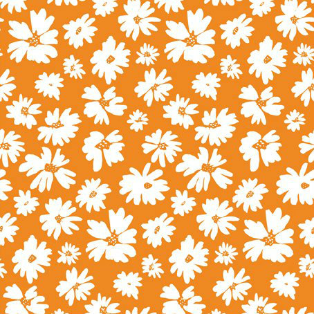 Doodle Blossoms Wildflower Orange