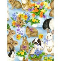 Garden Gathering Bunnies All Over