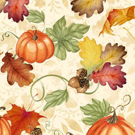 Harvest Bounty Pumpkin Leaves 6