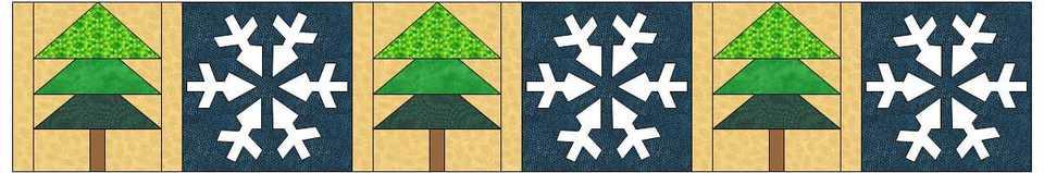 Row by Row 2014 Pine Trees & Snowflakes - Tree