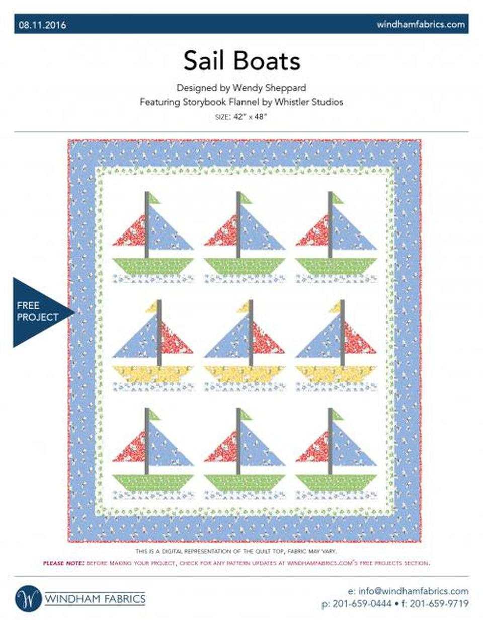 Sail Boats Quilt Pattern