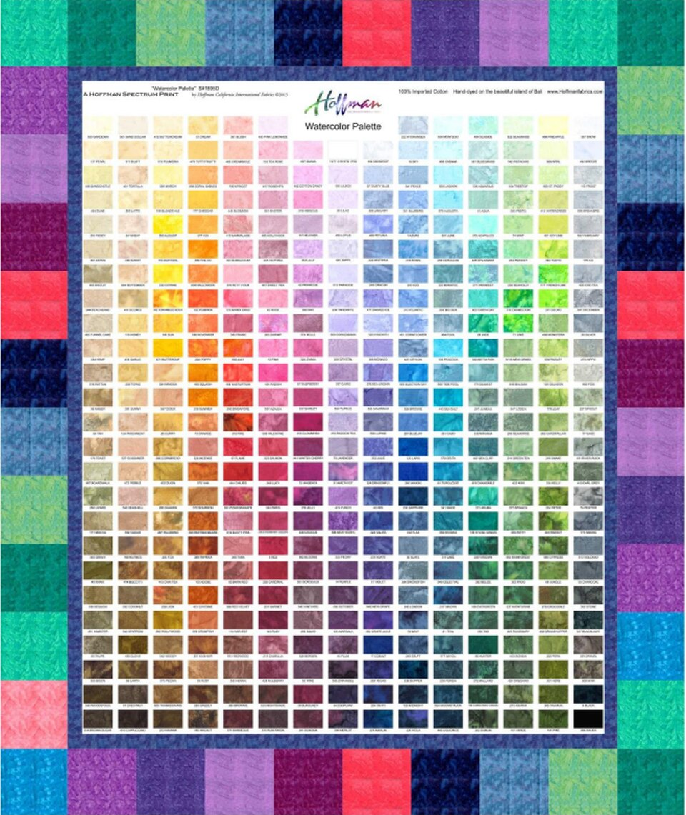 Watercolor Palette with Snaps Pattern