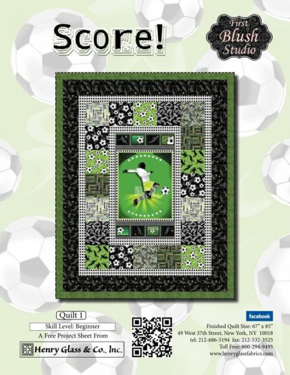 Score! Soccer Quilt Pattern