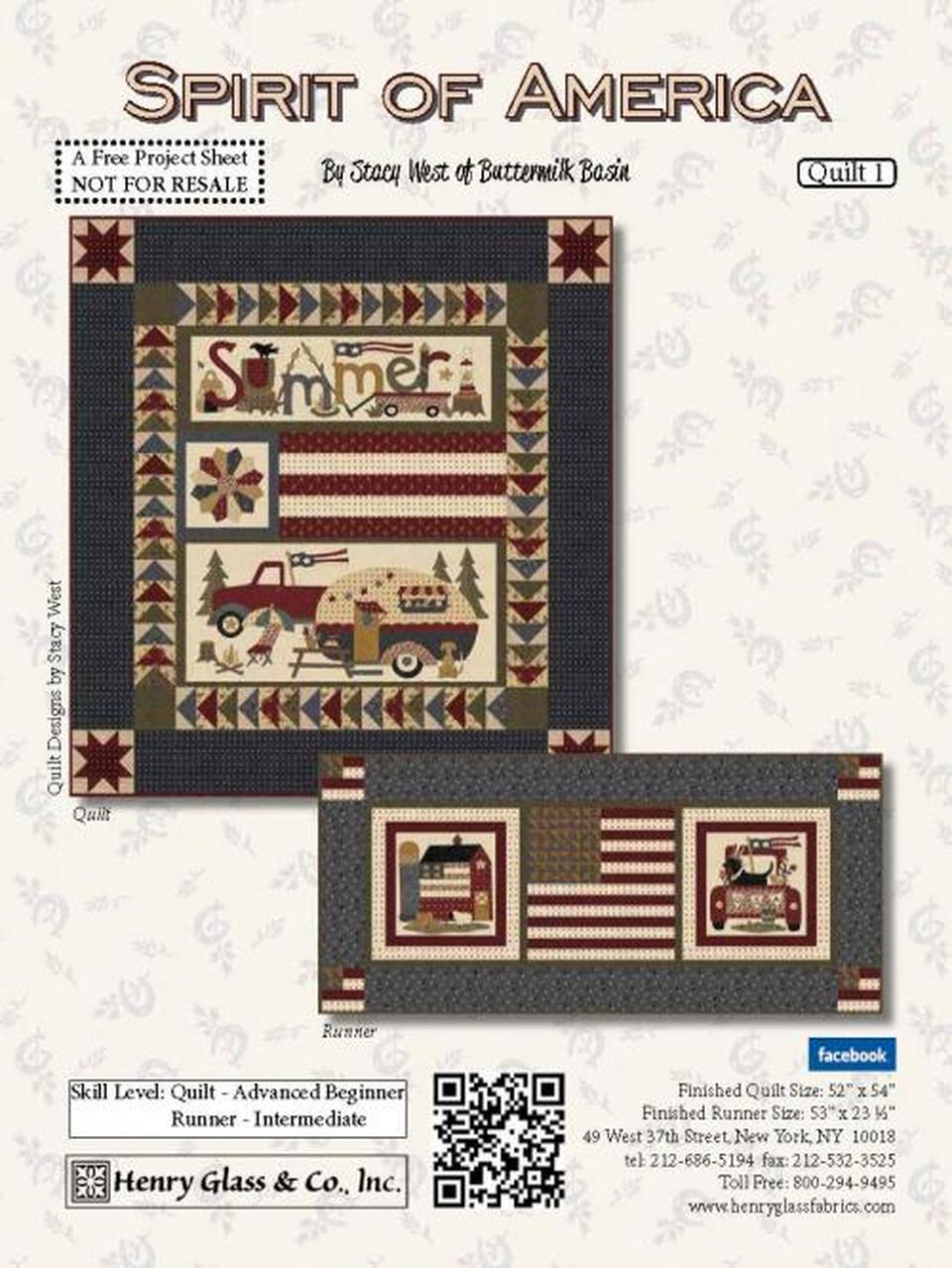 Spirit of America Panel Quilt and Runner