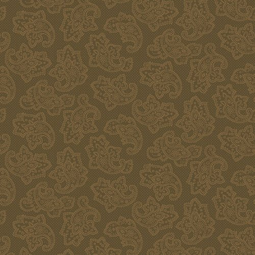 Gratitude & Grace Dotted Paisley Brown