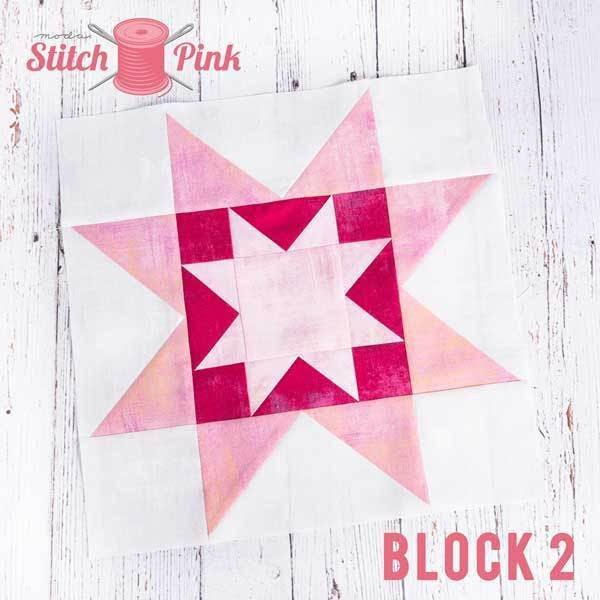 Stitch Pink Block 2 - On the Rise