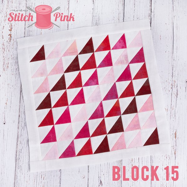 Stitch Pink Block 15 - Tweet Tweet