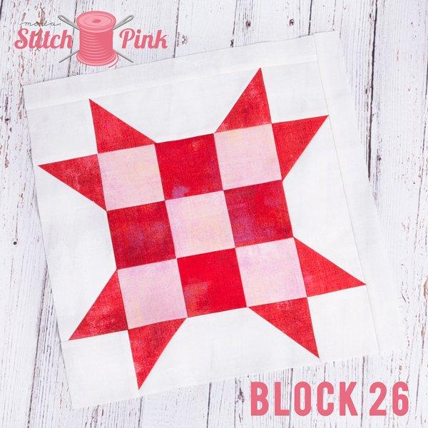 Stitch Pink Block 26 - City Girl