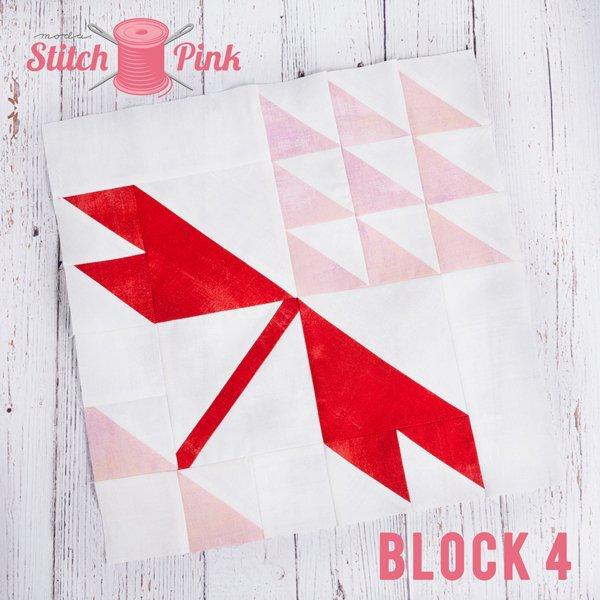 Stitch Pink Block 4 - Flower Power