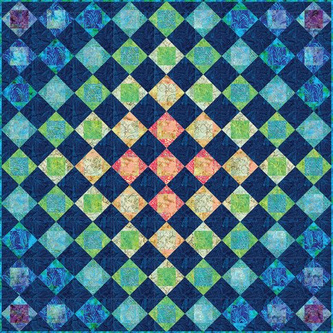 Diamond Transparency Quilt Pattern