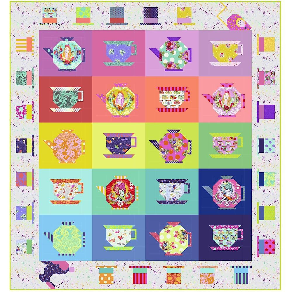 Mad Hatter Tea Party Quilt Kit