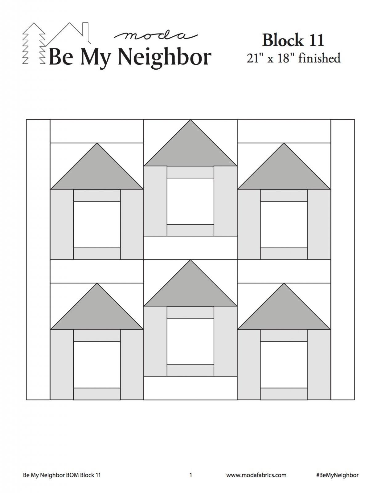Be My Neighbor Quilt Along Block 11