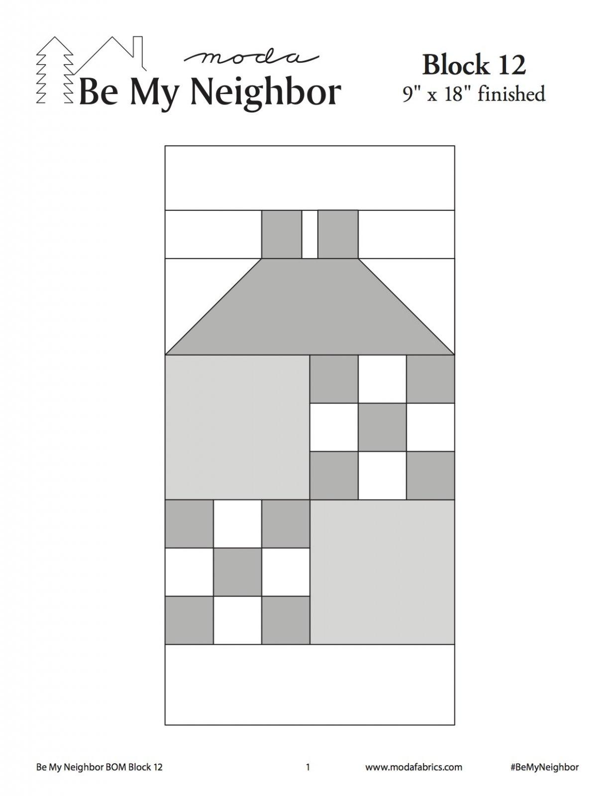 Be My Neighbor Quilt Along Block 12