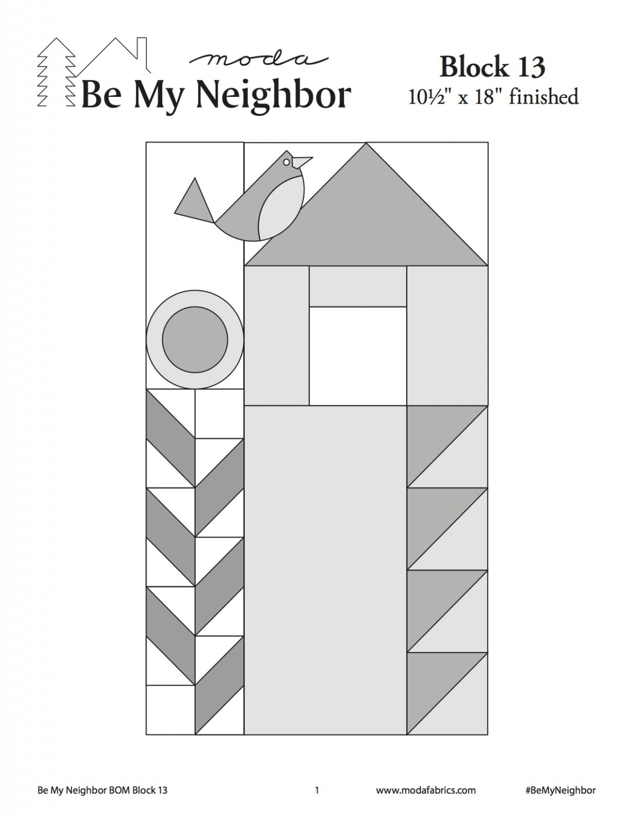 Be My Neighbor Quilt Along Block 13