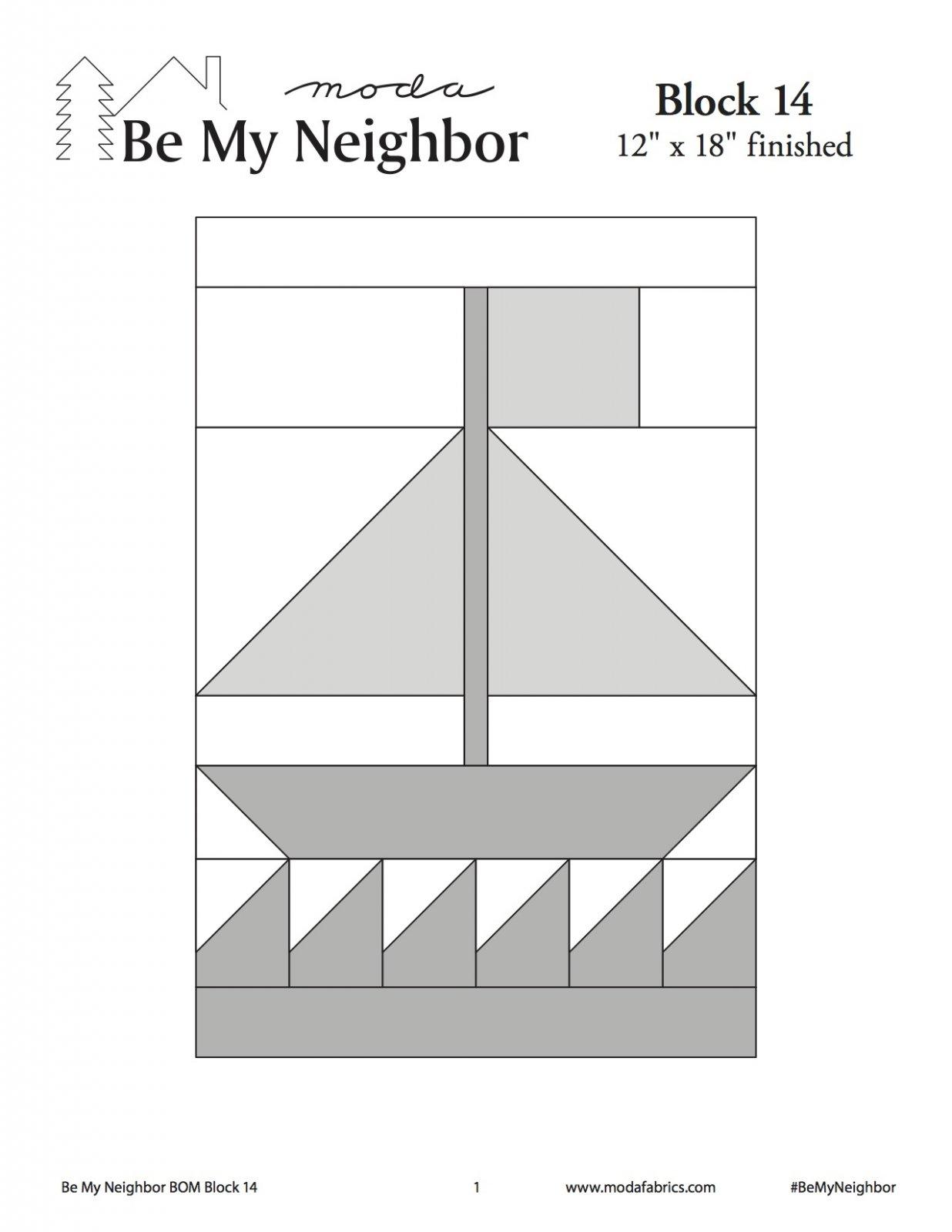 Be My Neighbor Quilt Along Block 14