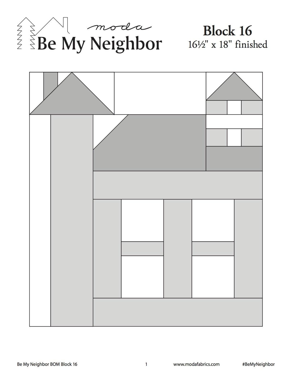 Be My Neighbor Quilt Along Block 16