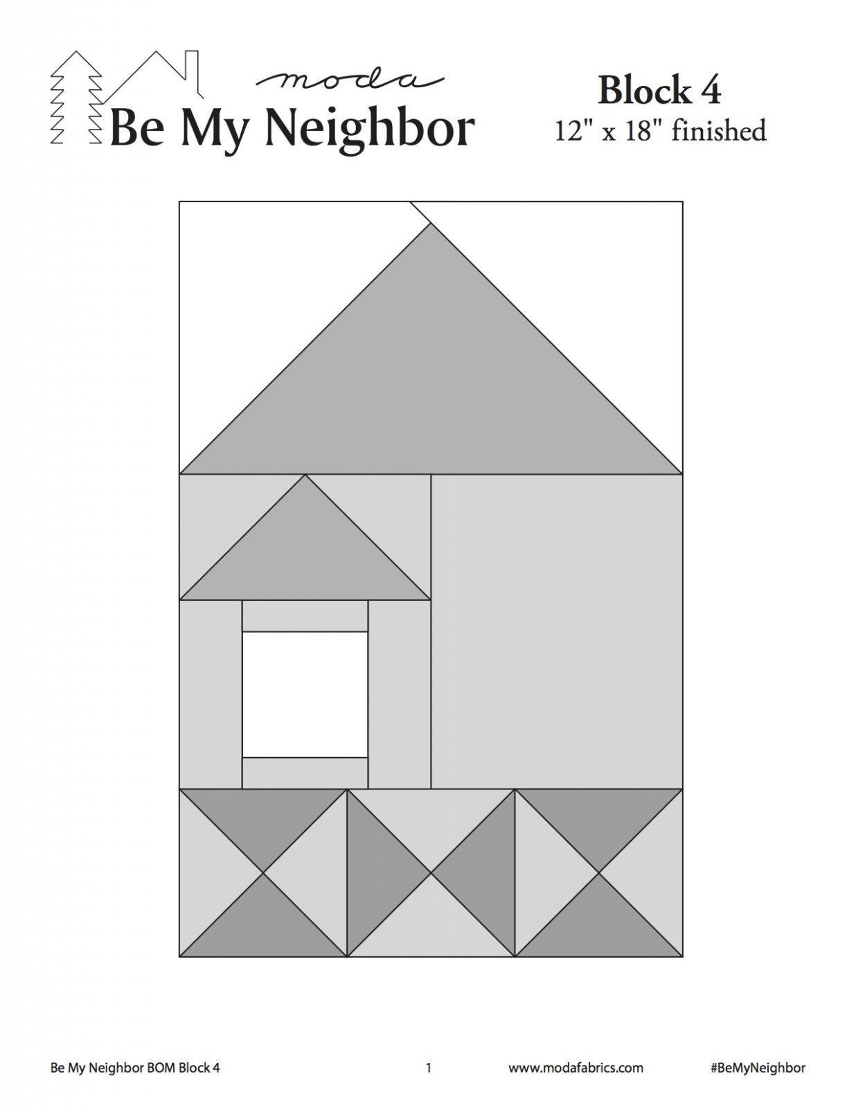 Be My Neighbor Quilt Along Block 4