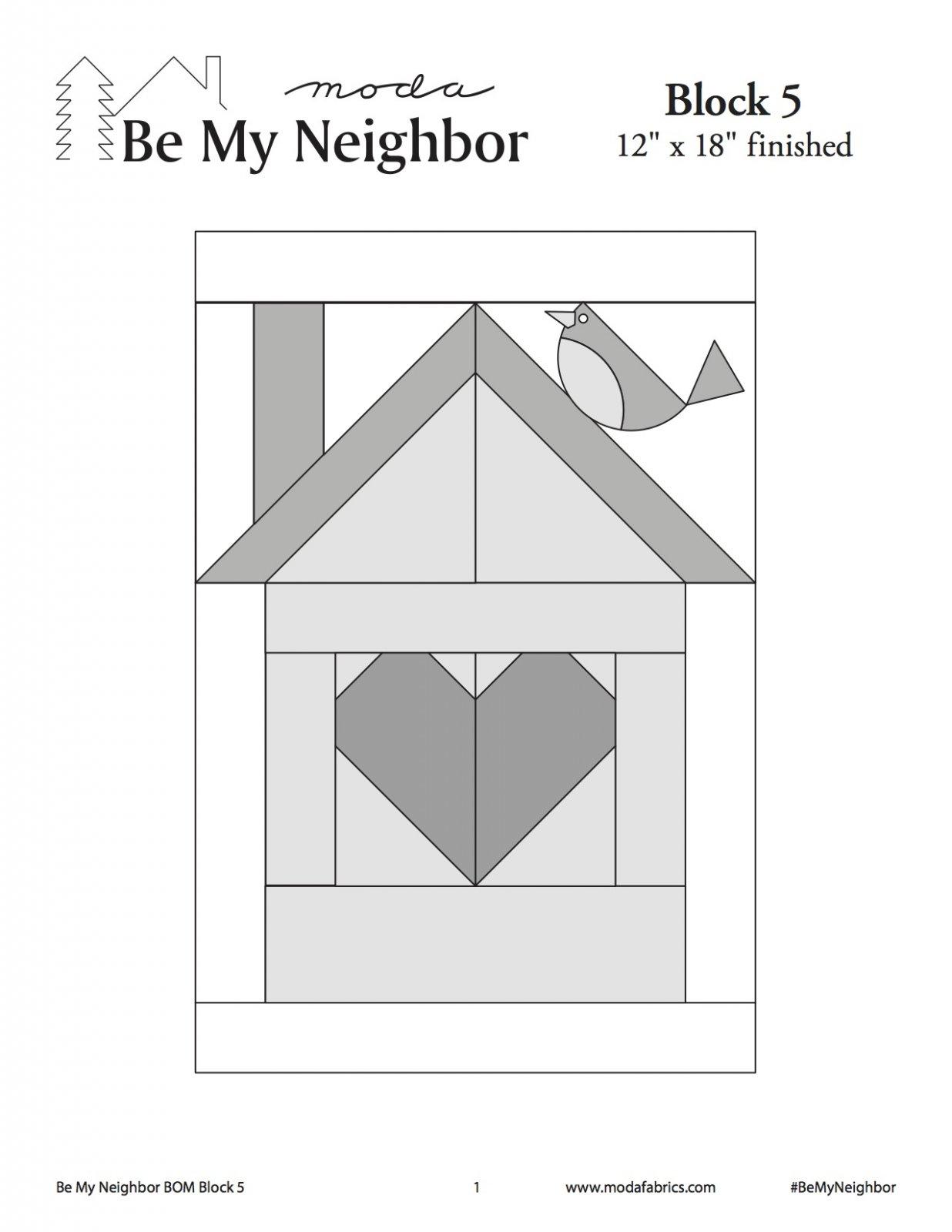 Be My Neighbor Quilt Along Block 5