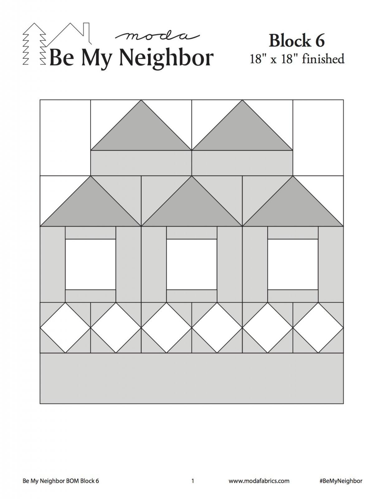 Be My Neighbor Quilt Along Block 6