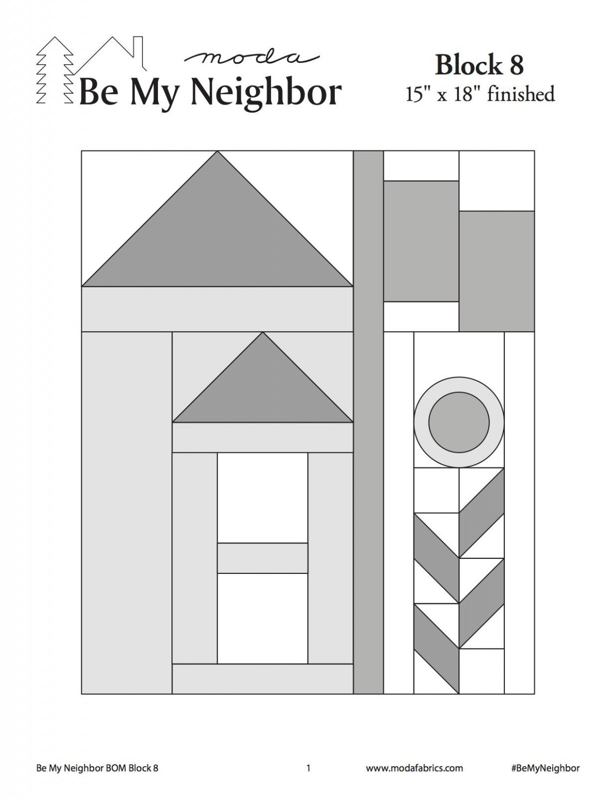 Be My Neighbor Quilt Along Block 8