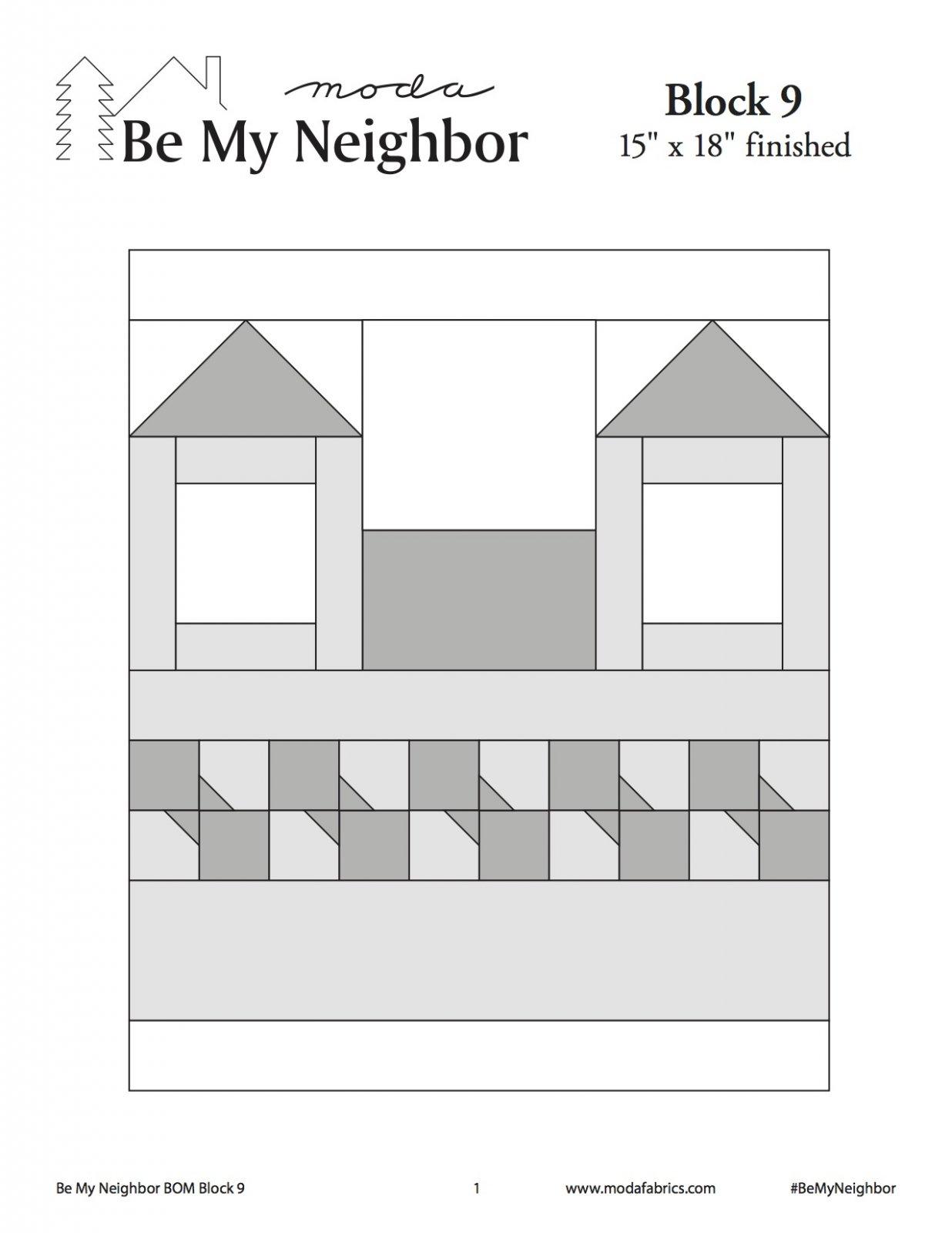 Be My Neighbor Quilt Along Block 9