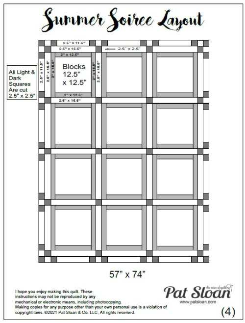 Summer Soiree Sew Along Quilt Layout