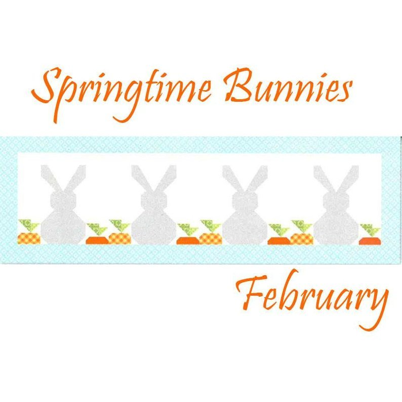 Table Runner of the Month Springtime Bunnies