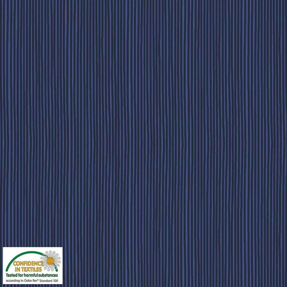 Quilters Basic Navy Stripe