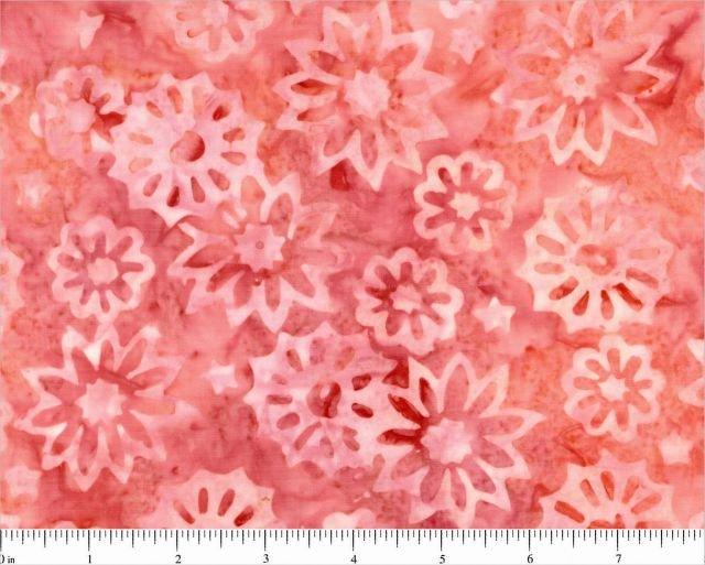 Komo Batiks-flowers on pinks