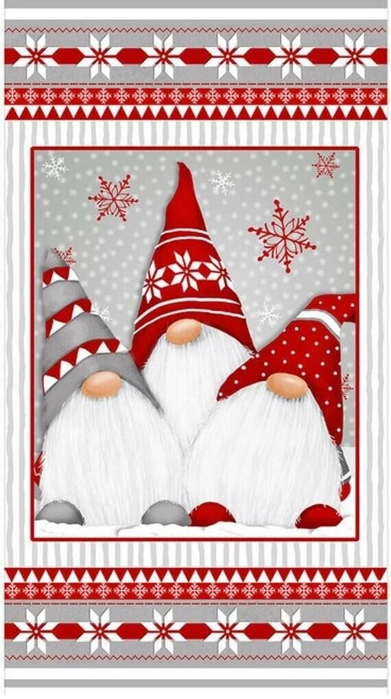PANEL - Winter Whimsy Gnome-grey