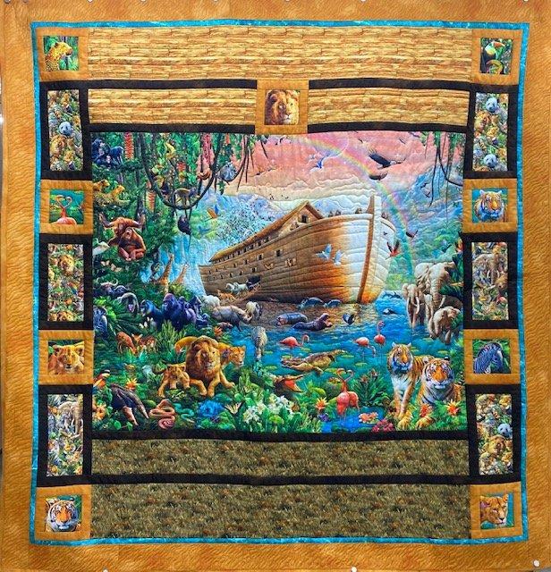 Noah's Ark Quilt Kit (57.5x59)