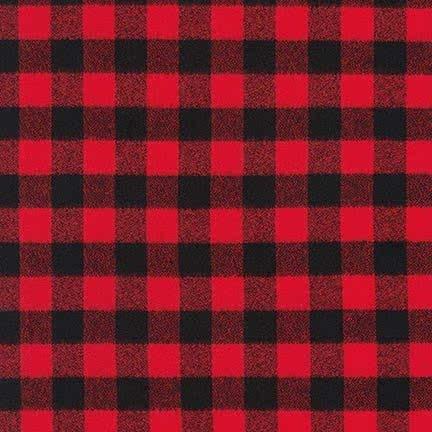 Mammoth Flannel - Buffalo Check Red & Black Medium 16944-3 Red