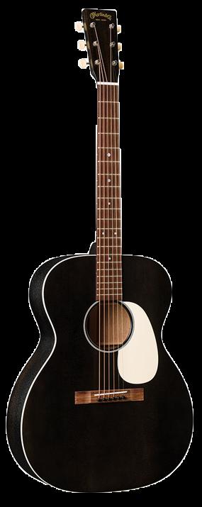 Martin 000-17E Black Smoke 000-14 Fret model Guitar with Fishman Matrix VT Enhance & Ply Hardshell