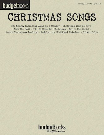 Christmas Songs Budget Books