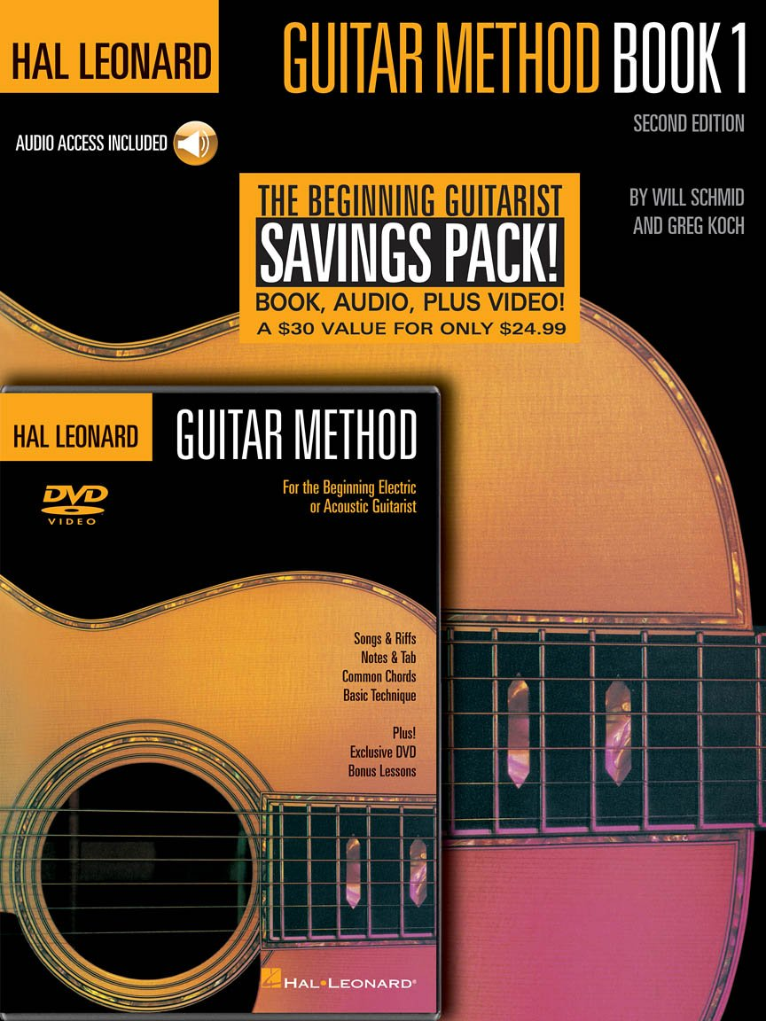 Hal Leonard Guitar Method Beginner's Pack Book 1 with Online Audio + DVD