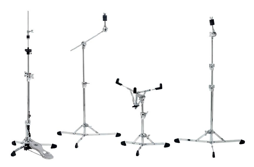 Gibraltar  8700PK four-piece hardware pack features flat based stands