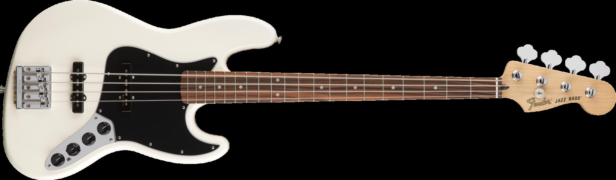 Fender Deluxe Active Jazz Bass Pau Ferro Fingerboard Olympic White