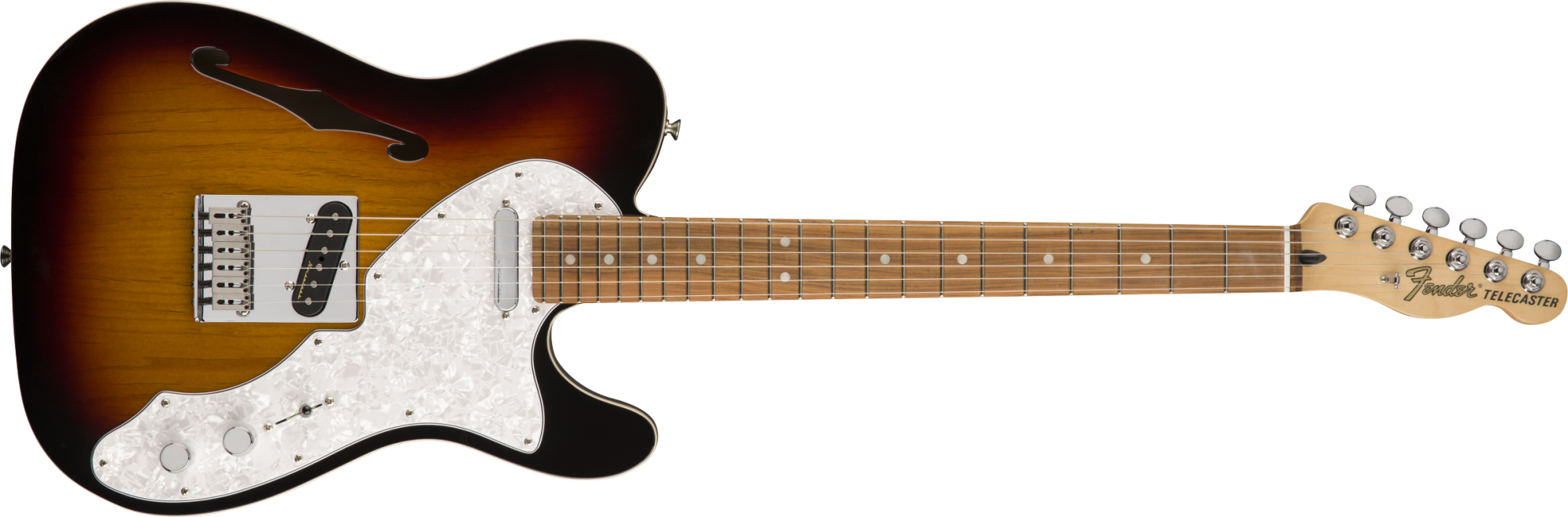 Fender Deluxe Telecaster Thinline 3-Color Sunburst Pau Ferro Fingerboard