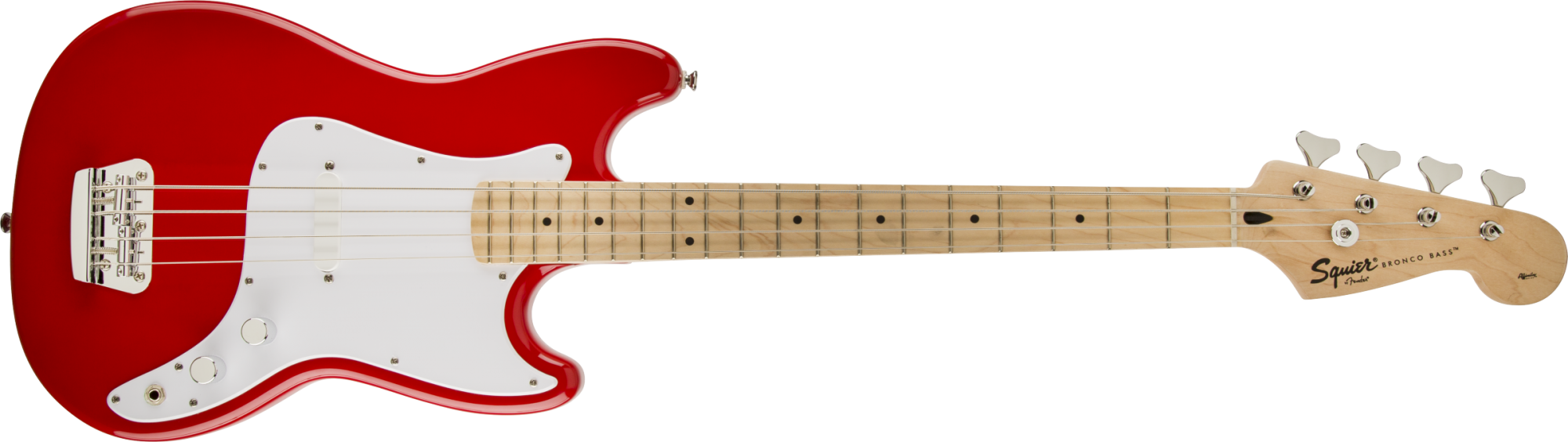 Fender Squire Bronco Bass, Maple Fingerboard, Maple Fingerboard, Torino Red