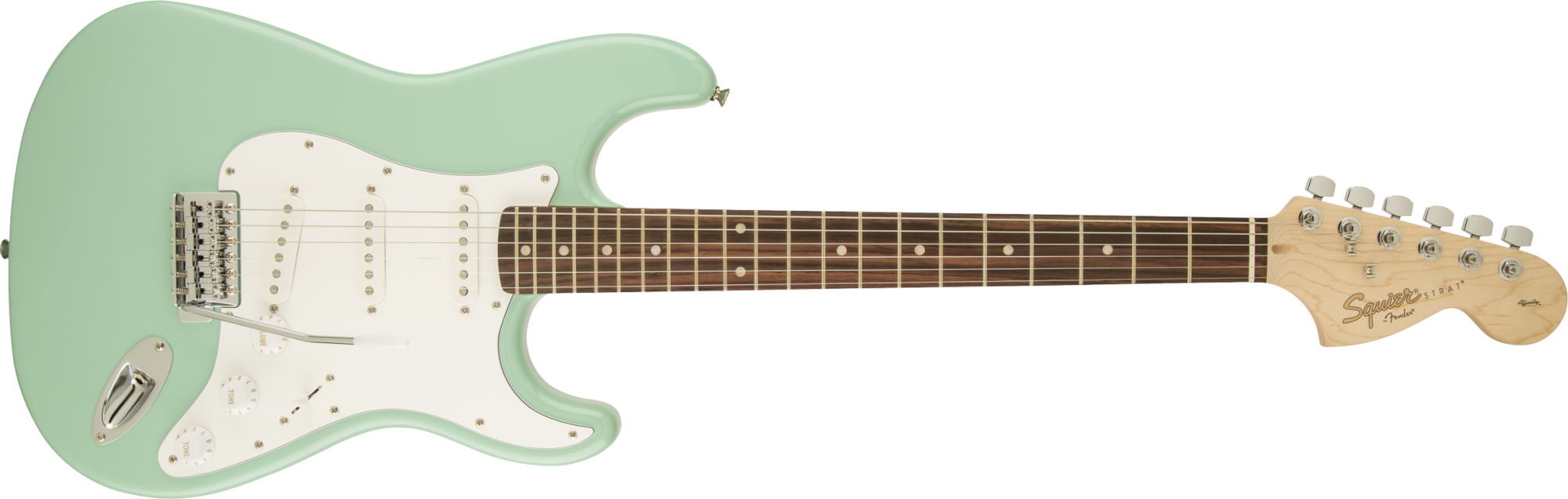 Fender Squire Affinity Series Stratocaster®, Laurel Fingerboard, Surf Green