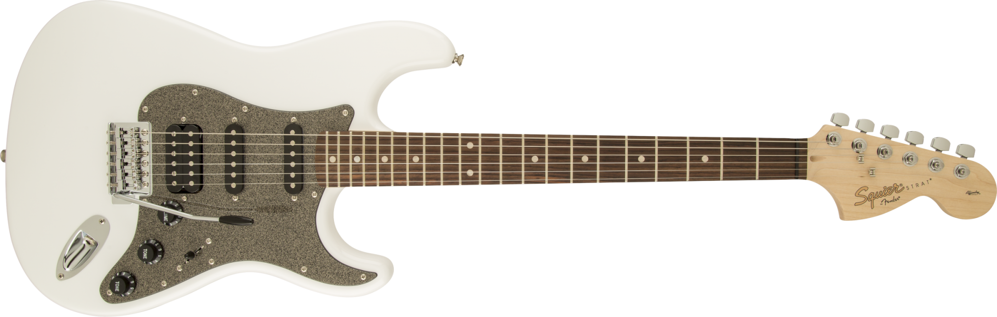 Fender Squire Affinity Series Stratocaster HSS Laurel Fingerboard Olympic White