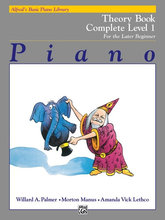 Alfred's Basic Piano Library: Theory Book Complete 1 (1A/1B) For the Later Beginner