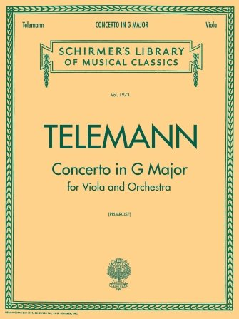 Schrimers Telmann Concerto in G Schirmer Library of Classics Volume 1973 - viola part and piano reduction