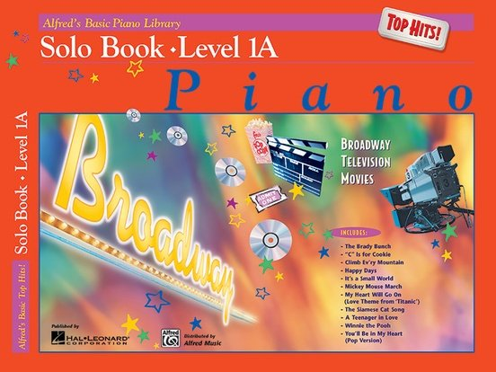Alfred's Basic Piano Library: Top Hits! Solo Book 1A